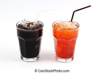 Thai style ice black coffee and ice Tea