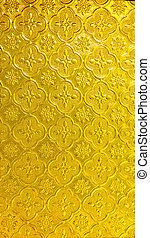 Thai style  Seamless Yellow Glass texture
