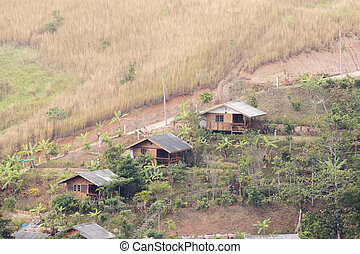 Thai style small house on the hill