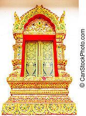 Thai style window of temple