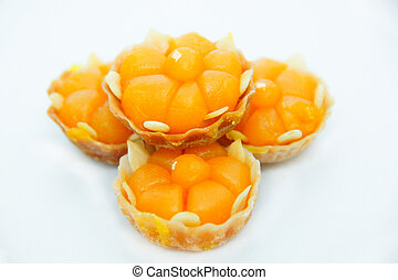 Thai sweets On white background