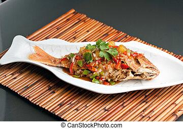 Thai Tamarind Red Snapper - Freshly prepared Thai style ...