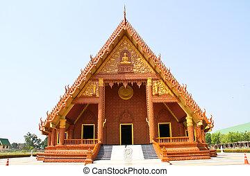 Thai temple, Wat Savangveerawong, Ubonratchathani Thailand