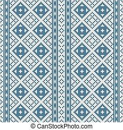 Thai pixel textile texture pattern.