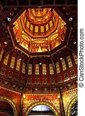 Thai texture inside dome