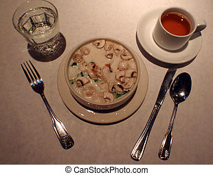 Thai Tofu Mushroom Coconut Milk Soup
