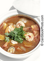 thai tom yum kung spicy and sour shrimp soup