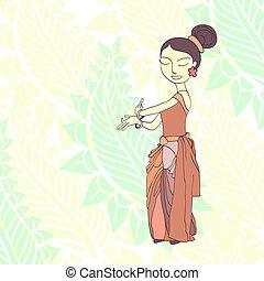 thai traditional dancer