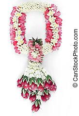 Thai traditional flower garland.