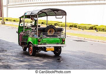 Thai tuktuk - Thai style tricycle called tuktuk or samlor in...