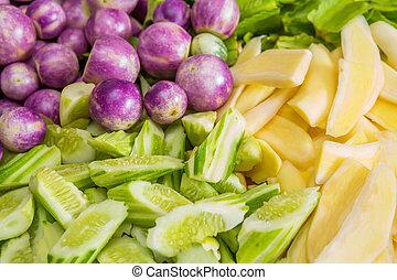 Thai vegetable dish - Thai vegetable - winged bean, white ...