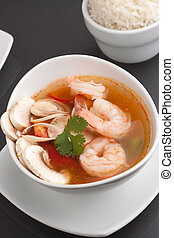 Thai Vegetable Soup with Shrimp