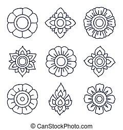 Thai Vintage decorative elements
