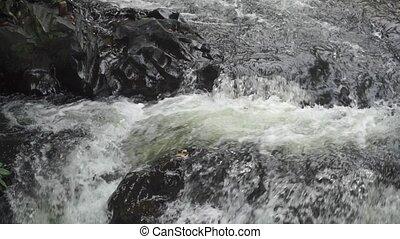 Thai waterfall slow motion video