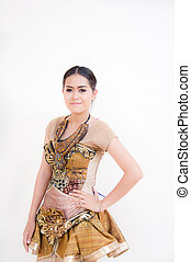 Thai woman with Thai style suite