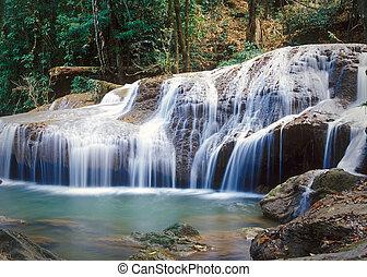 thaiföld, dzsungel, vízesés