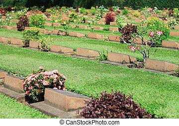 thaiföld, temető, kanchanaburi
