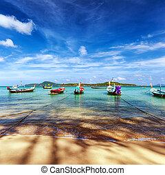 thaiföld, tropical tengerpart, egzotikus, táj