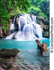 thaiföld, vízesés, tartomány, kanchanaburi