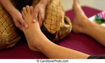 thailändisch, fuss- massage