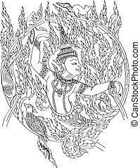 thailändisch, grafik
