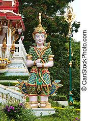 thailändisch, stil, vormund, in, der, guarden
