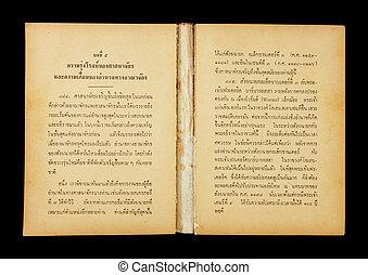 thailändische sprache, altes , buch