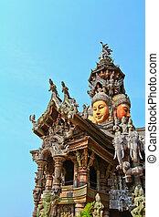 thailan, sanctuaire, chonburi, vérité