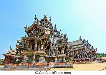 thailan, santuario, chonburi, verdad