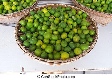 thailand, alhier, citroenen, markt