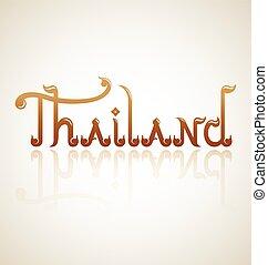 Thailand alphabet design