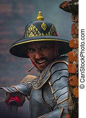 Thailand ancient warrior man