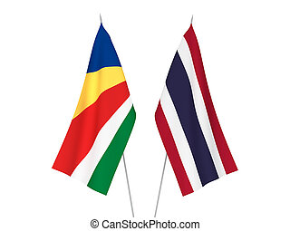 Thailand and Seychelles flags - National fabric flags of ...