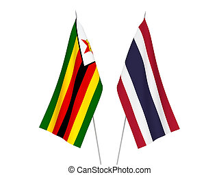 Thailand and Zimbabwe flags - National fabric flags of ...