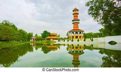 Thailand. Ayuthaya. Bang Pa-In Palace. View of the tower