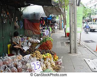 Thailand Bangkok - Street Stall Sleepy Woman - Scene\\\'s...