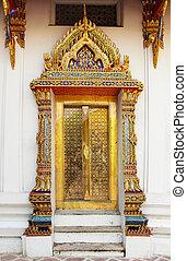 Thailand Bangkok Temple Door
