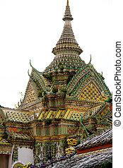 Thailand Bangkok Wat Arun temple detail