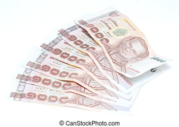 banknote money on white background