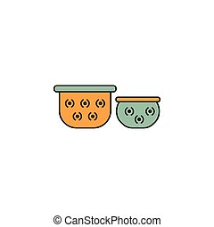 thailand cartoon icon - Pots cartoon icon. Thailand Giant...