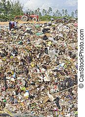 thailand., conjugal, déchets, tas