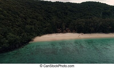 Thailand Coral Island Drone Shot A view of the corals...