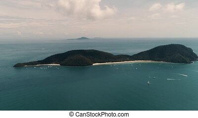 Thailand Coral Island Drone Shot - The flight and shooting...