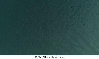 Thailand Coral Island Drone Shot Water dyed in the color of...