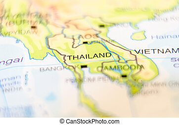 thailand country on map