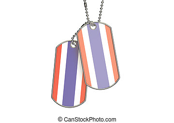 Thailand Dog Tags, 3D rendering