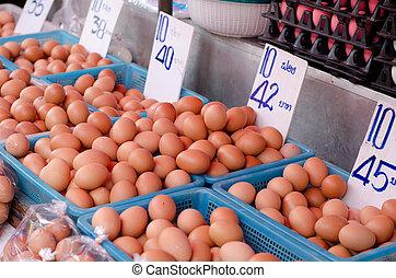 thailand, eitjes, markt, alhier