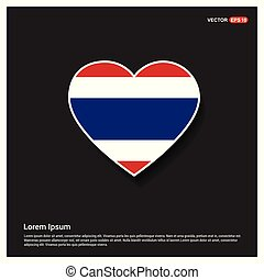 Thailand flag design vector