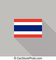Thailand flag flat design vector illustration