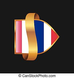 Thailand flag Golden badge design vector